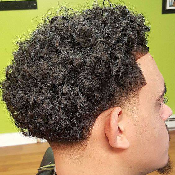 Holiday Curly Fade Haircut Design