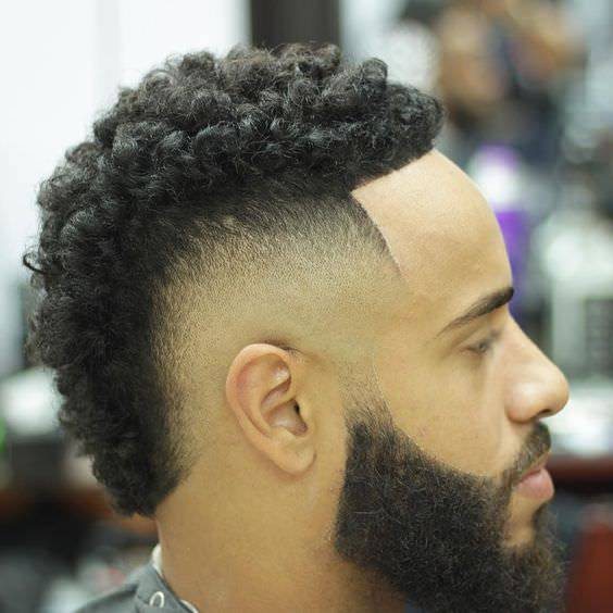 Lovely Curly Fade Haircut Design