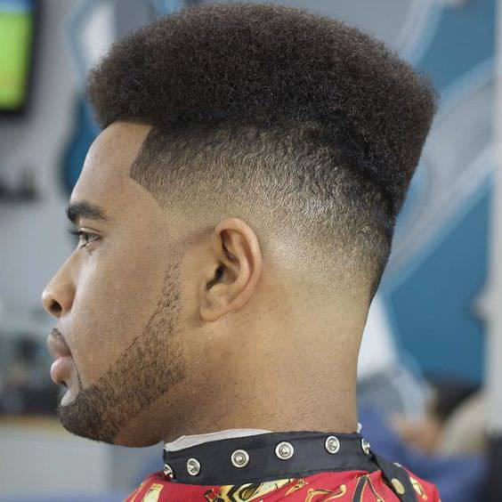 Back Curly Fade Haircut Design