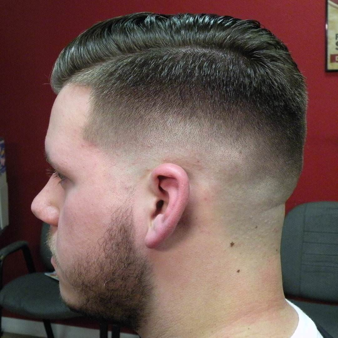 Skin Comb Over Fade Haircut Design