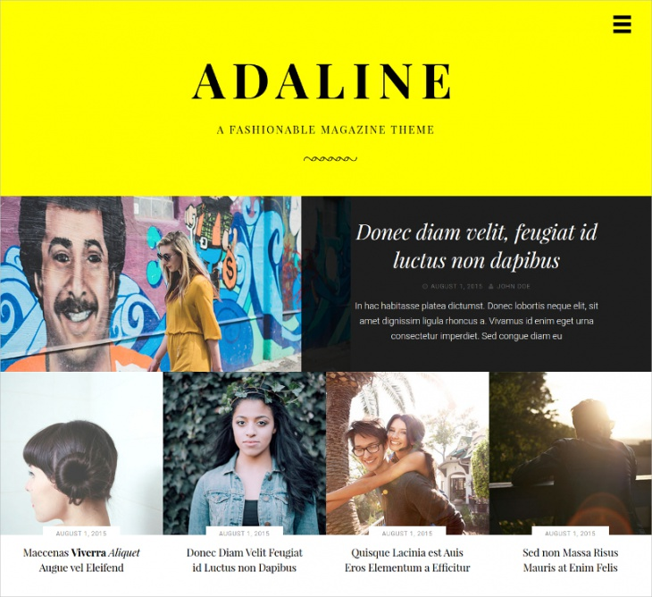 fashion magazine wordpress theme
