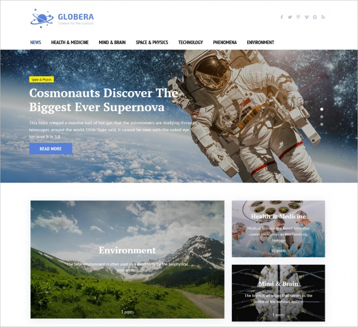 Scientific Magazine WordPress Theme