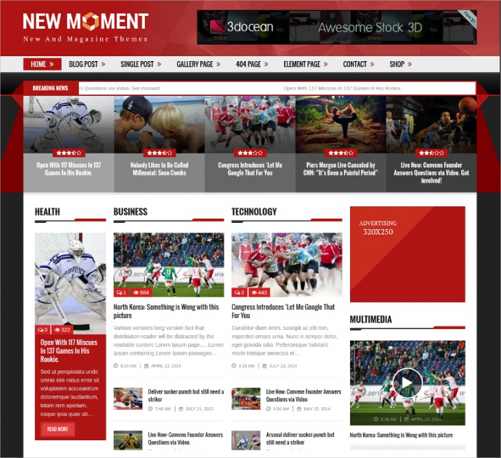 Sports Magazine WordPress Theme