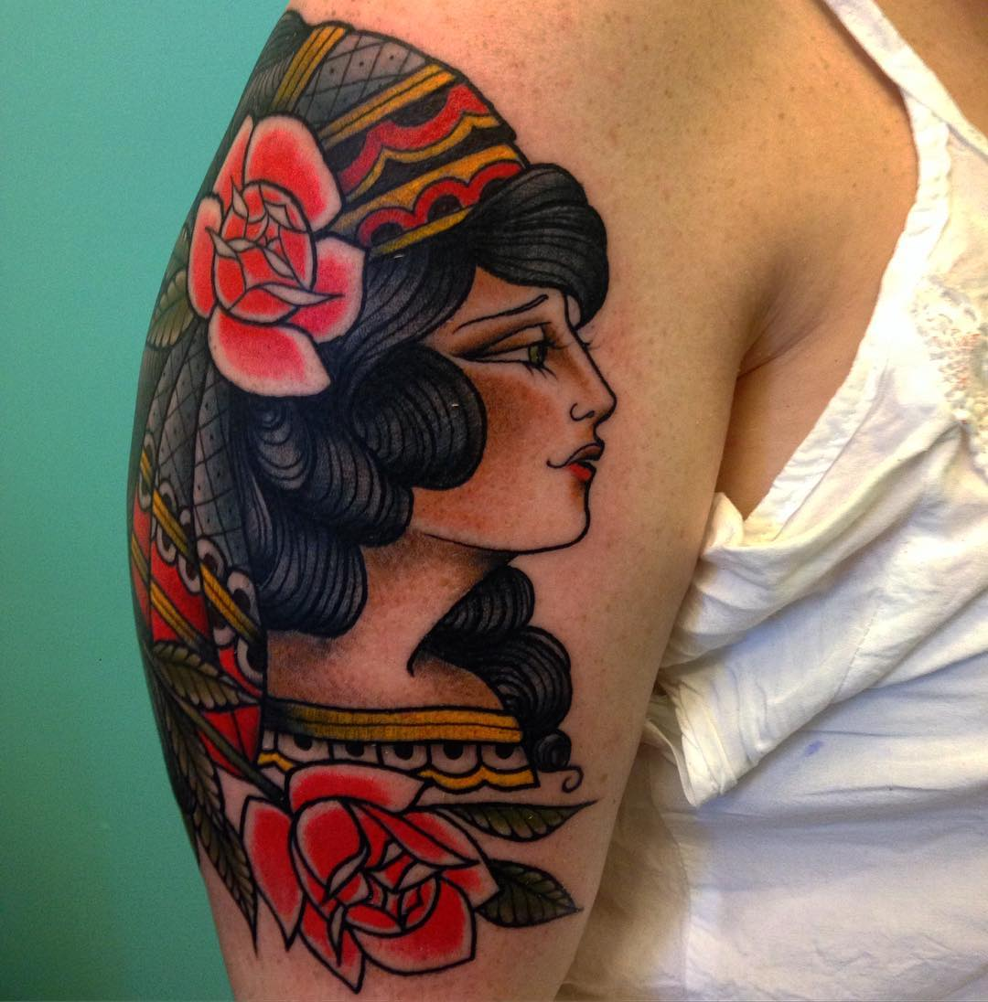 Beautiful Women Flash tattoo