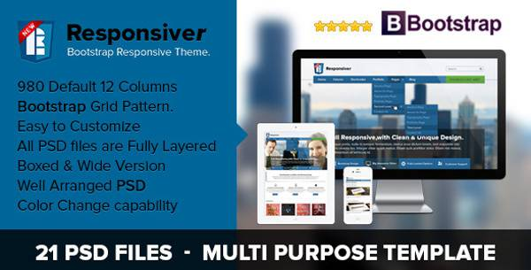 Best Bootstrap PSD Template