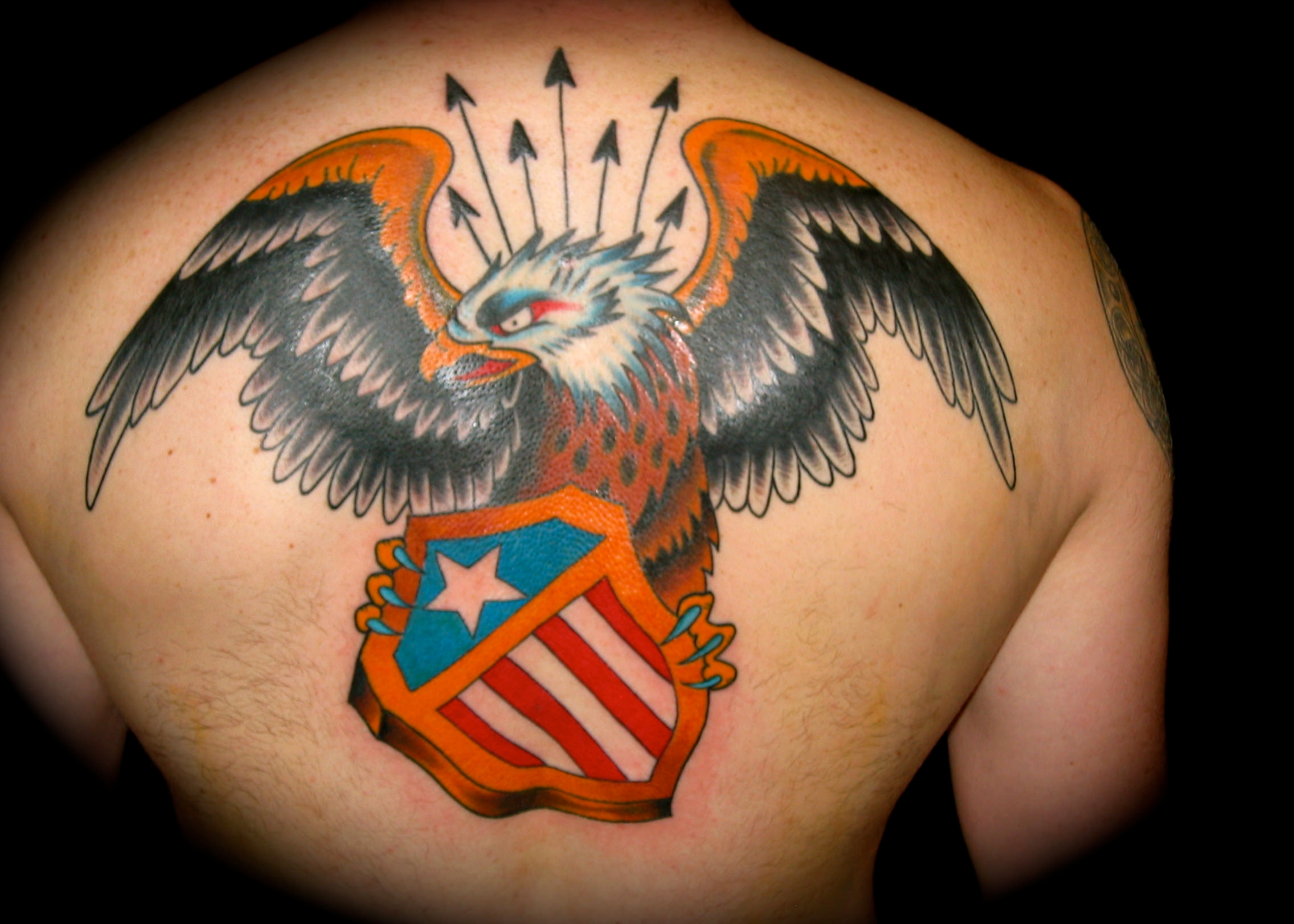Angry Eagle Design Tattoo