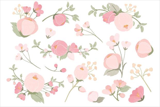 soft pink floral pattern