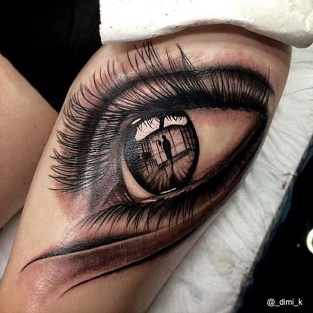 Eye Design Flash Tattoo