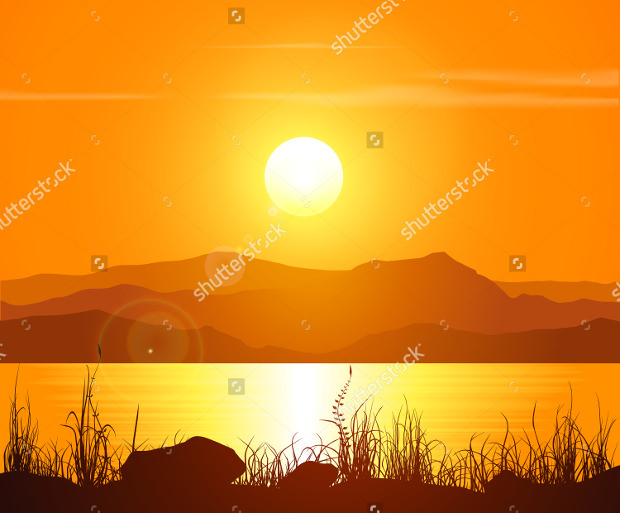 Pleasent Sunset vector Images Quick Download