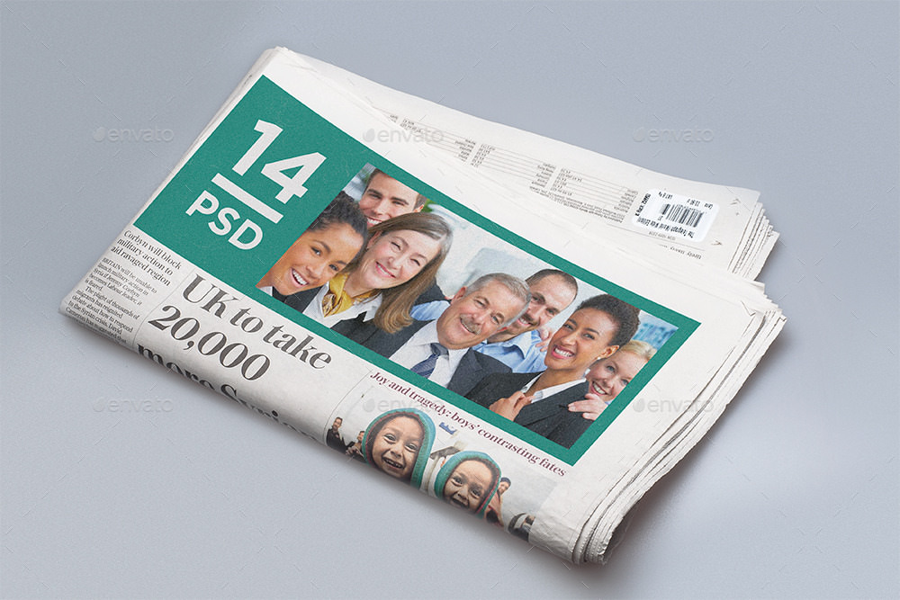 Photo Realistic News Paper Mockup