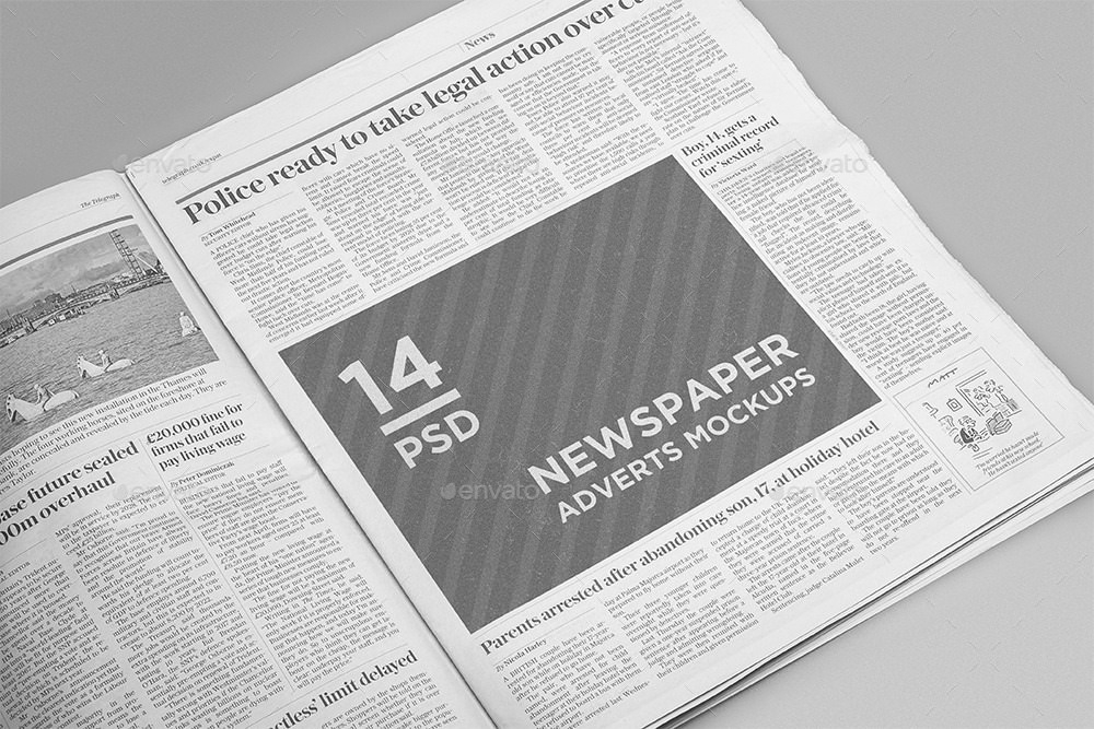 Newspaper Advertisement Mockups