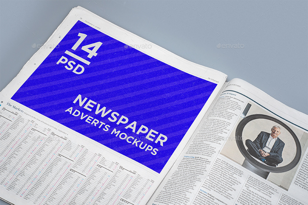 News Paper Advert Mockup PSD
