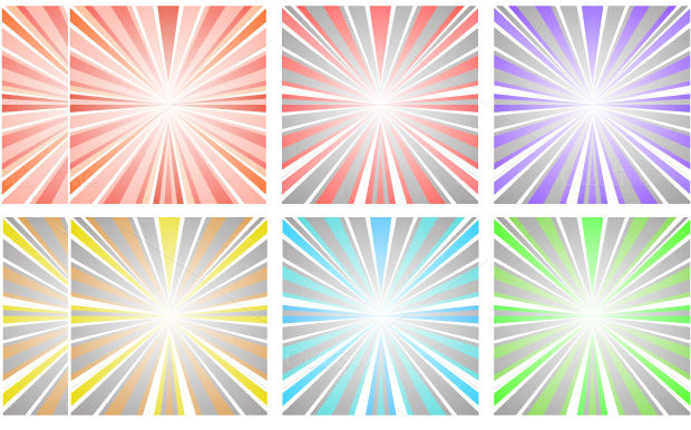 set of vector sunset download