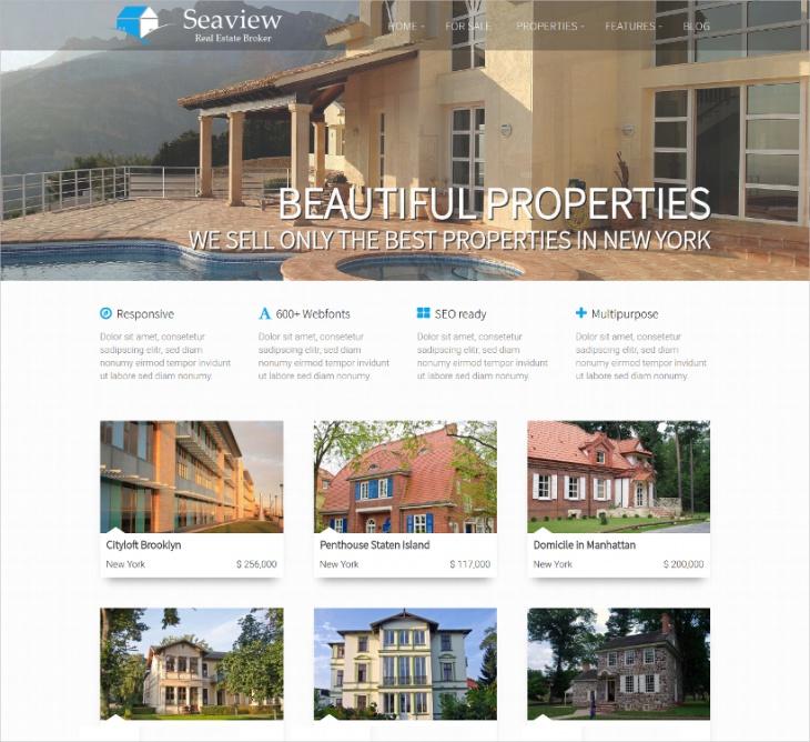 extensive wordpress real estate theme
