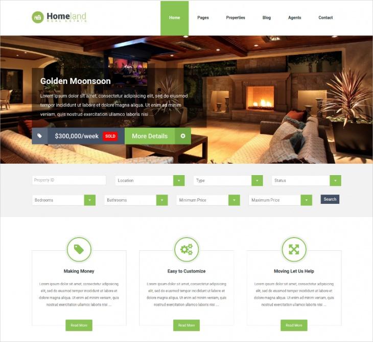 listing real estate wordpress theme