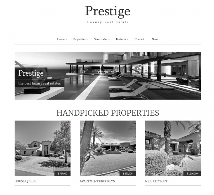 Luxury Real Estate Theme