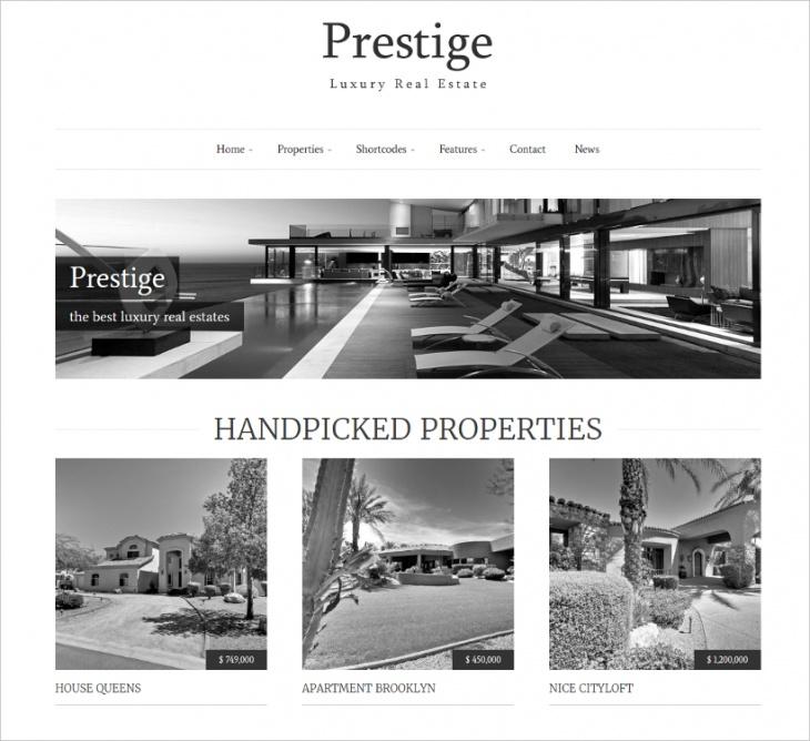 luxury real estate theme