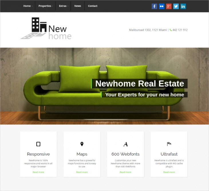 Newhome Real Estate Theme