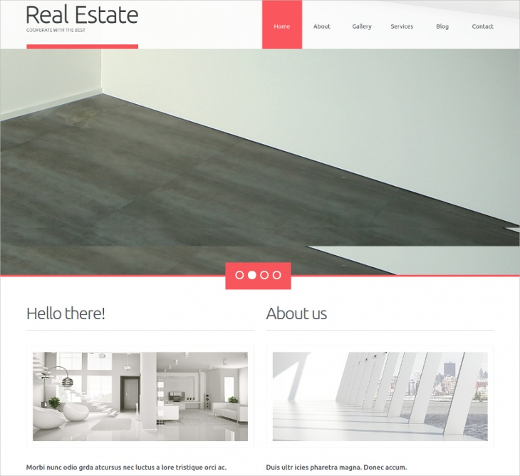 Parallax Real Estate Business Theme