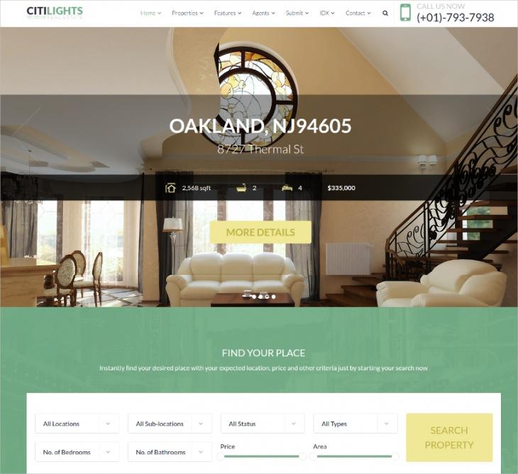 property sales rental theme