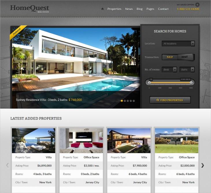 real estate agencies brokers theme