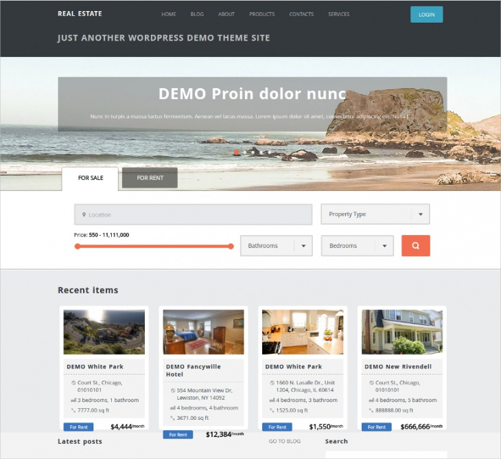 real estate directory theme