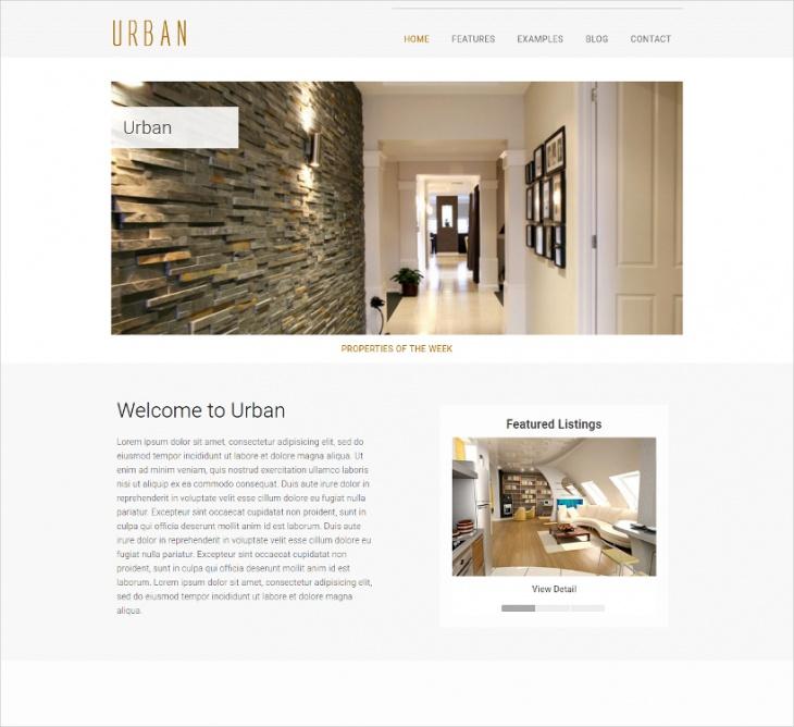 real estate portfolio website theme