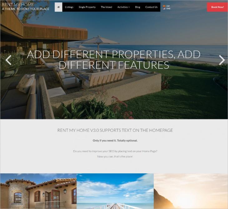 My Home Rental WordPress Theme