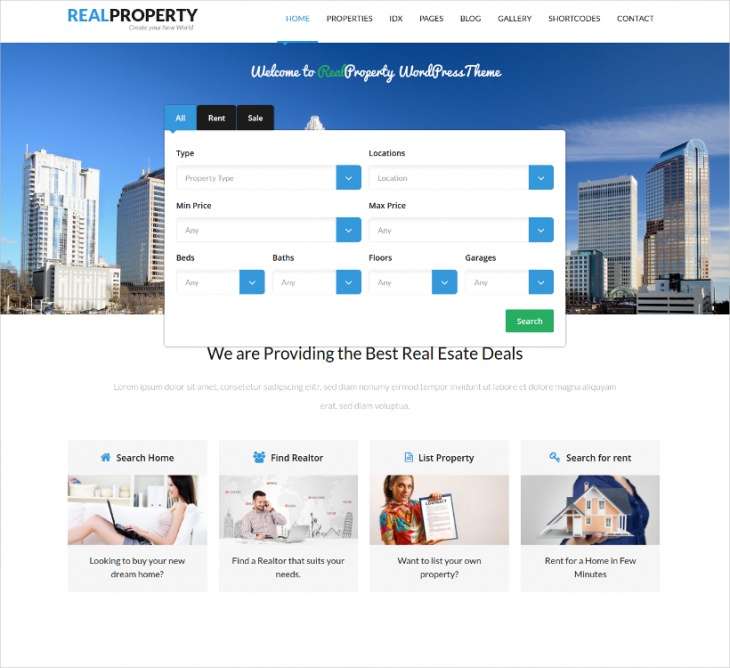 real property real estate theme