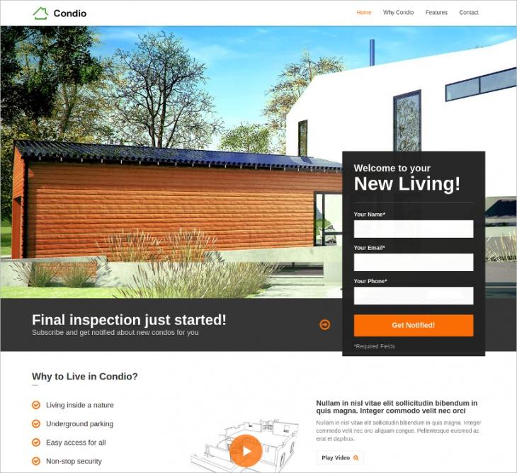 single property real estate theme