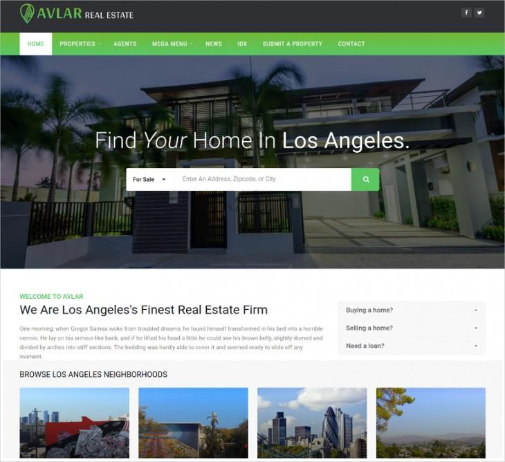 wp real estate listing theme