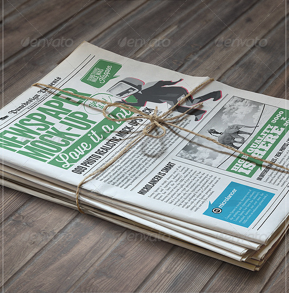 Newspaper Bundle Mockup
