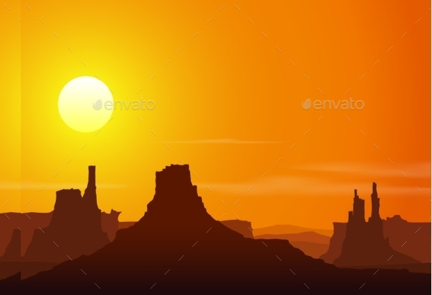 rocky mountain sunset vector download
