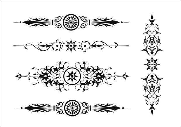 9 art deco brushes download for photoshop gimp design