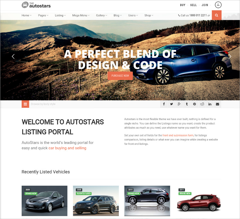 car dealership listings wp theme