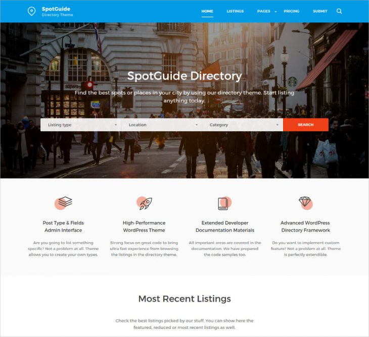 Clean & Simple Directory WordPress Theme