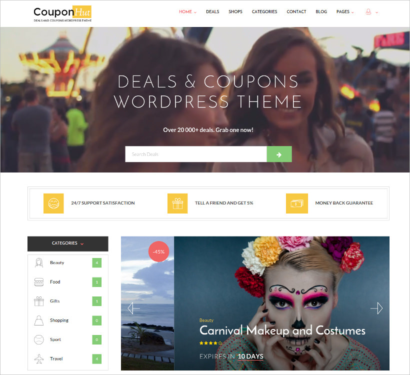 coupons deals wordpress theme