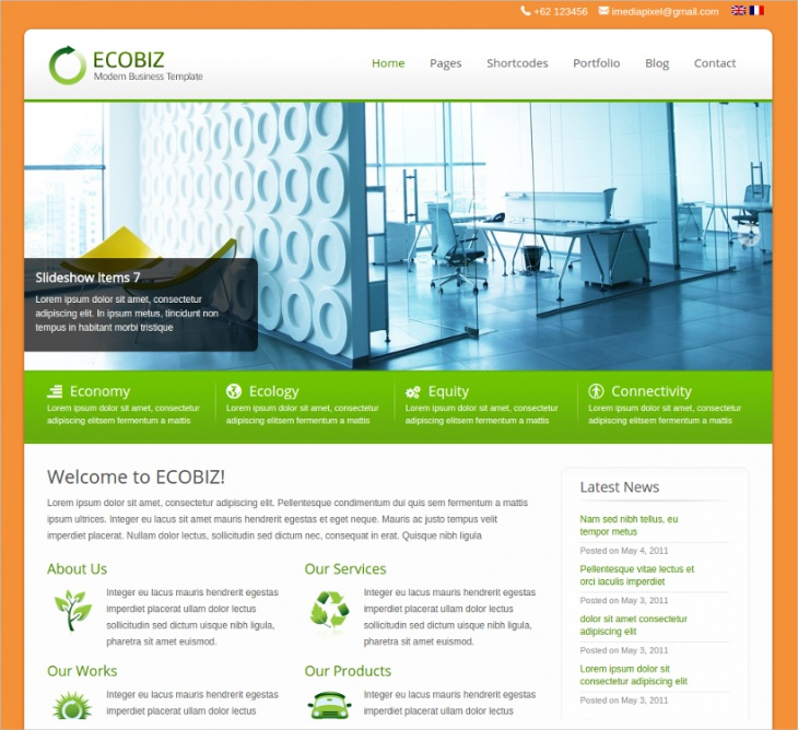 Modern Corporate & Business Theme