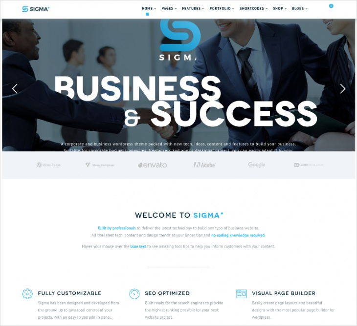 Sigma Business Theme