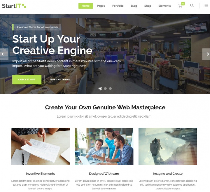 Startup Business Theme
