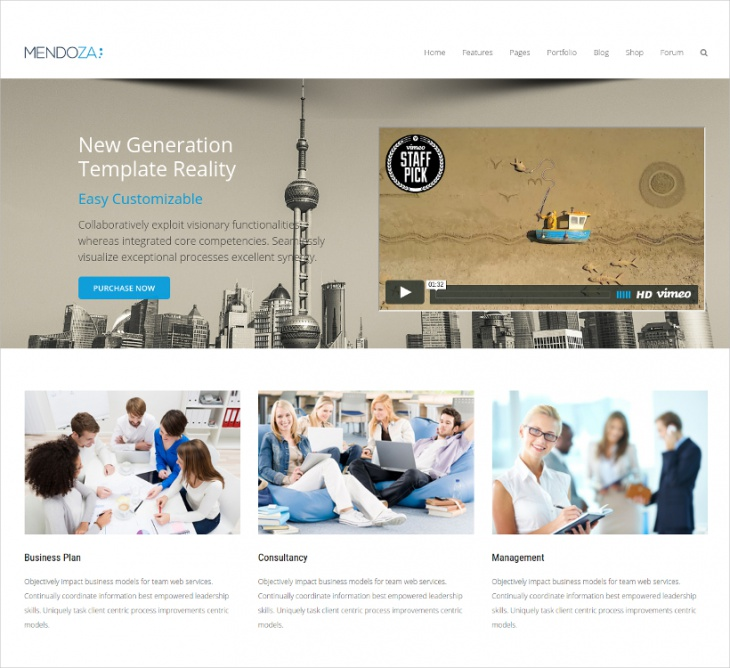 Bootstrap Business WordPress Theme
