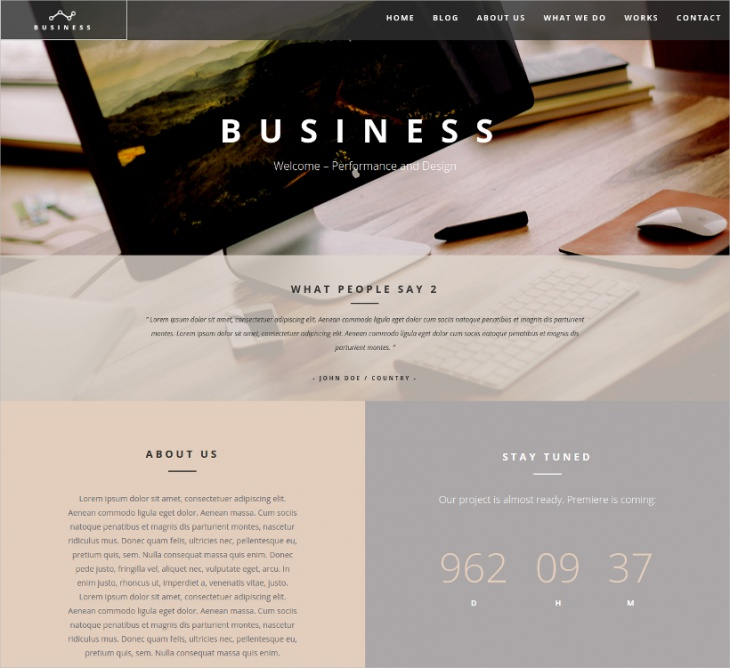 WP Theme One Page WordPress