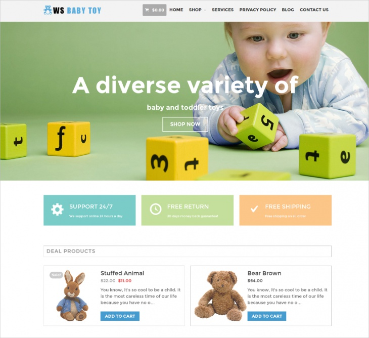 WordPress Toys BusinessTheme