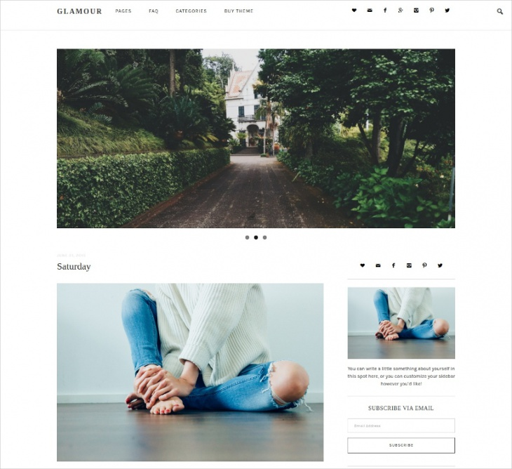 responsive minimalist wordpress theme