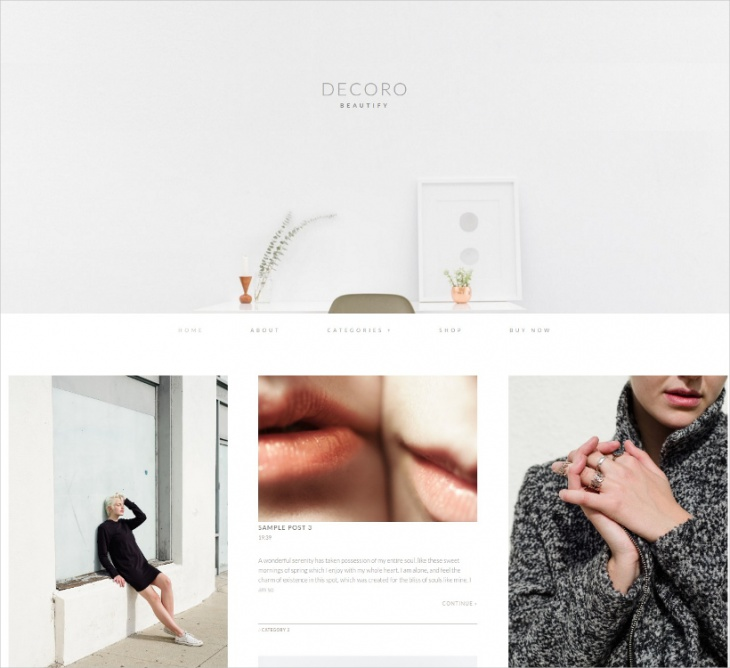 decoration wordpress theme