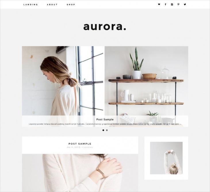 Aurora Minimalist Theme