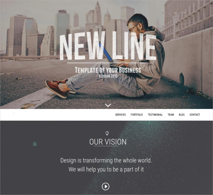 amazing minimalistic design theme