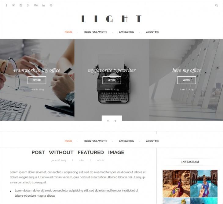 Modern Minimal Blogger Theme