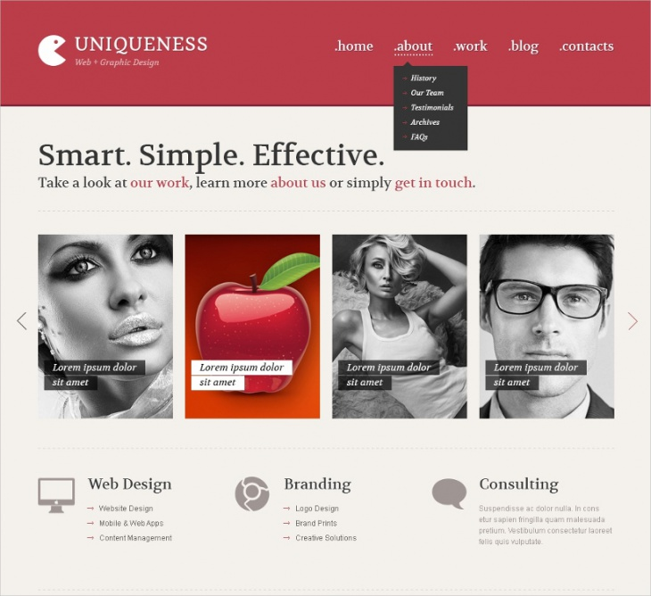 web design minimalism theme