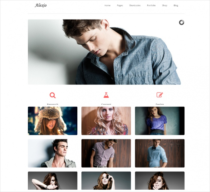 clean minimalist wordpress theme